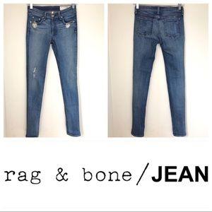 Rag & Bone Destroyed Skinny Jean